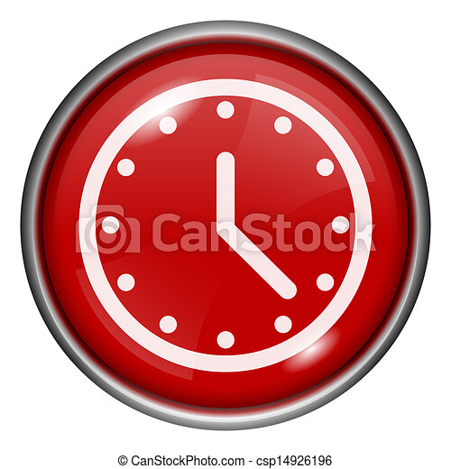 Red round glossy icon - csp14926196