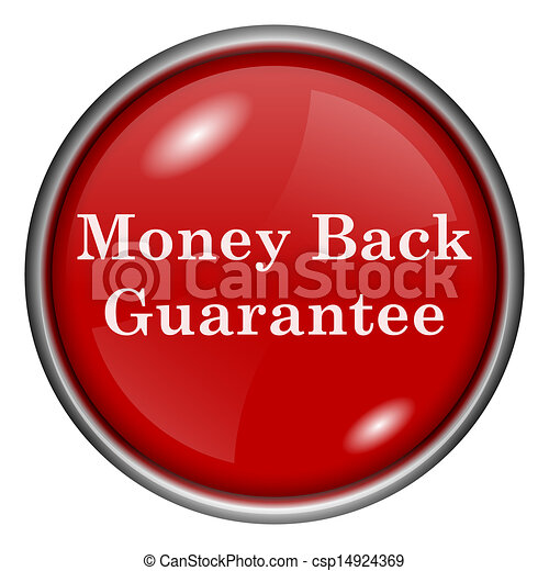 Red round glossy icon - csp14924369