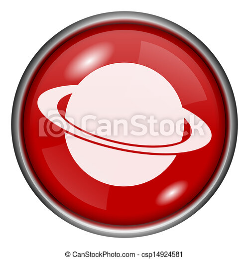 Red round glossy icon - csp14924581