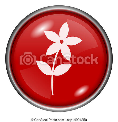 Red round glossy icon - csp14924350