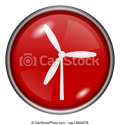 Red round glossy icon - csp14924376