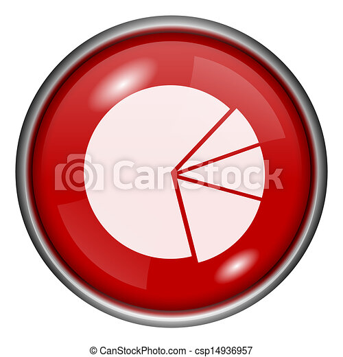 Red round glossy icon - csp14936957