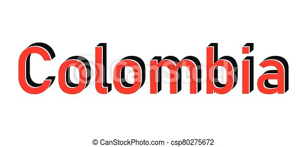 Red round stamp made in Colombia. Vector - csp80275672