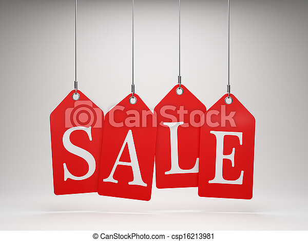 Red sale tags - csp16213981