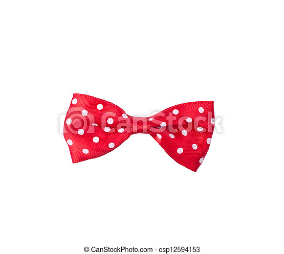 Red satin bow - csp12594153