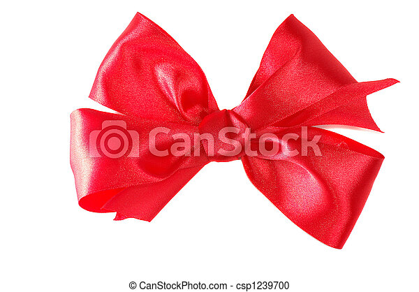 red satin bow - csp1239700