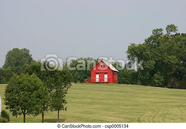 red schoolhouse - csp0005134