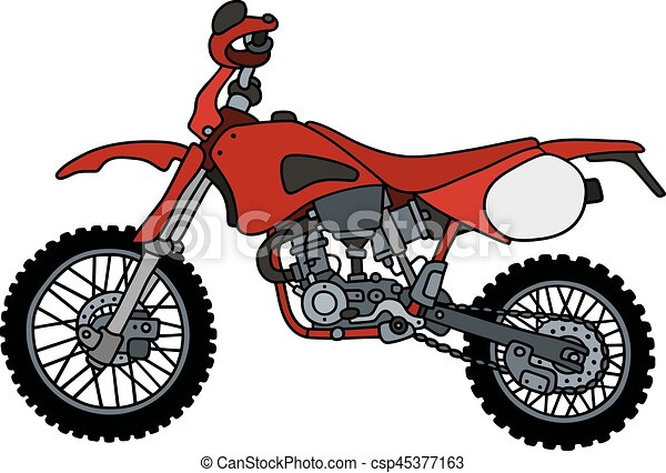 red scramble motorbike hand drawing of a red scramble clip art rh canstockphoto com motorcycle clip art free downloads free motorcycle clipart images