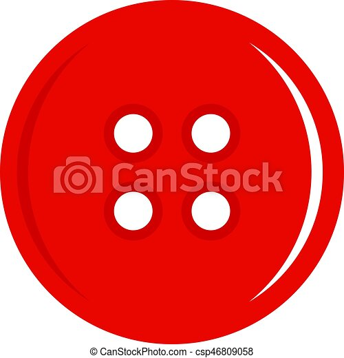 Red sewing button icon isolated - csp46809058