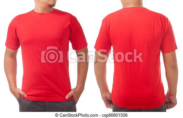 plain red t shirt back