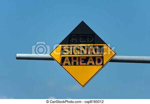 Red Signal Ahead Traffic Sign Light Up Roadway Sign That Tells When There Is A Red Traffic Signal Ahead