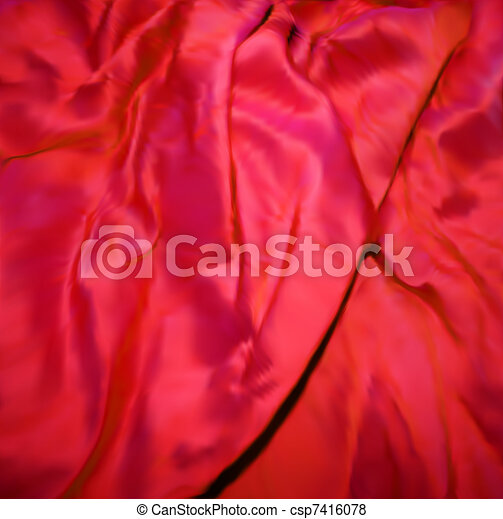 Red Silk Fabric texture. Vector - csp7416078