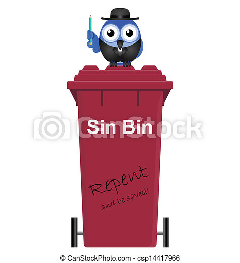 Red Sin Bin - csp14417966