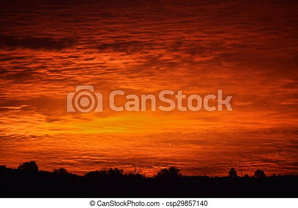 Red Sky at Morning - csp29857140
