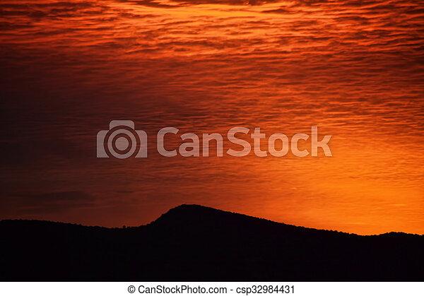 Red Sky at Morning - csp32984431