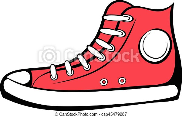 red sneaker icon cartoon red sneaker icon in cartoon style rh canstockphoto com speaker vector speaker vector