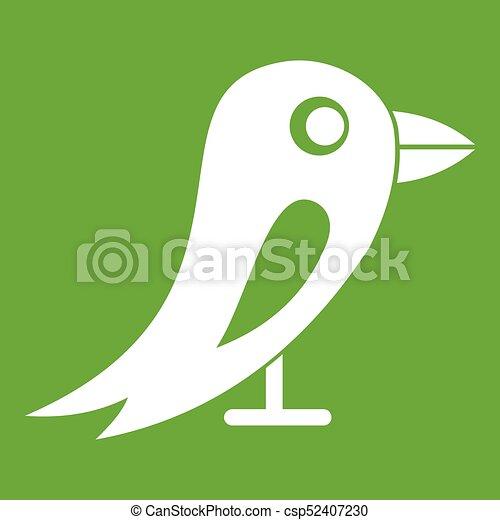 Verde icono de la red social - csp52407230