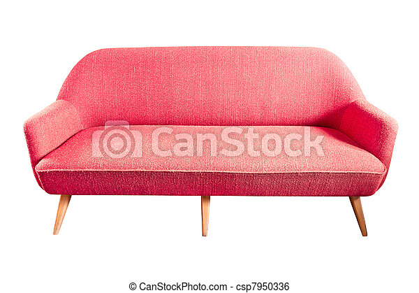 red sofa isolated - csp7950336