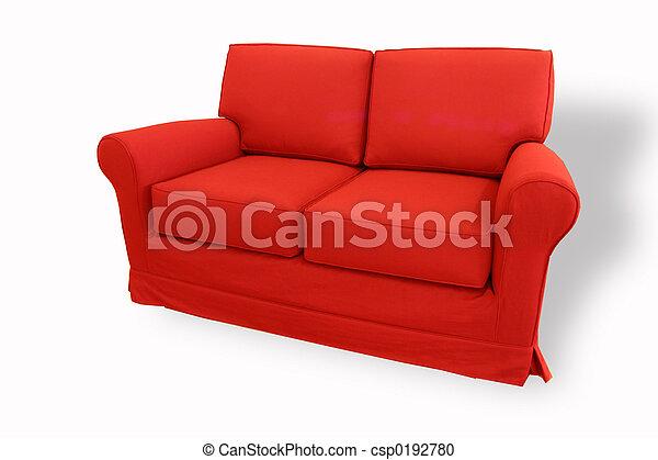 red sofa - csp0192780