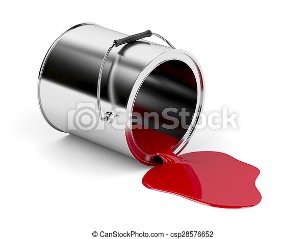 Red spilled paint - csp28576652