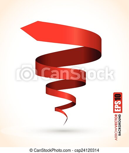 red spiral abstract object - csp24120314