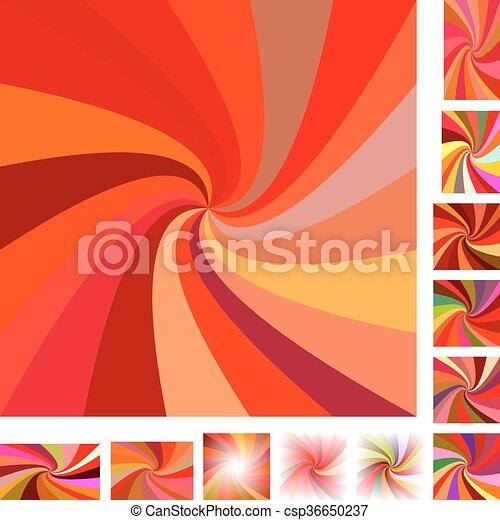 Red spiral background set - csp36650237