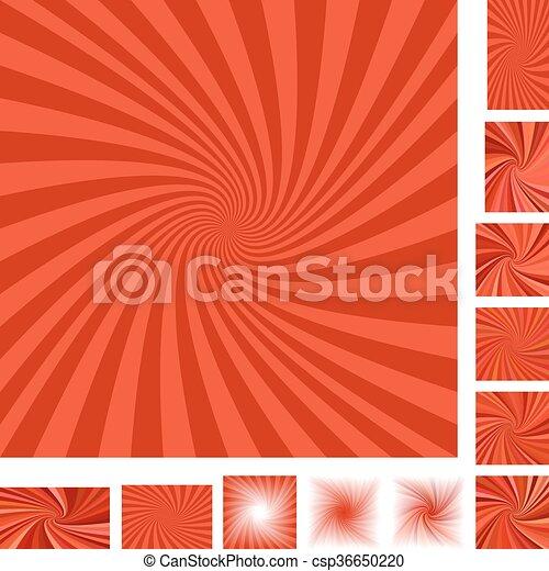 Red spiral background set - csp36650220