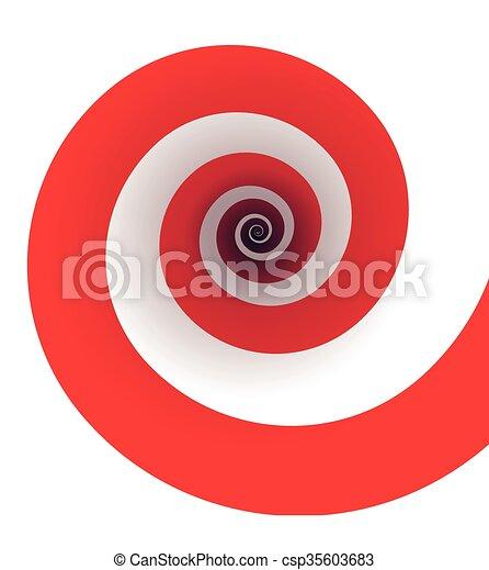 Red spiral - csp35603683