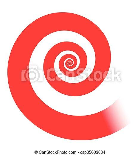 red spiral - csp35603684