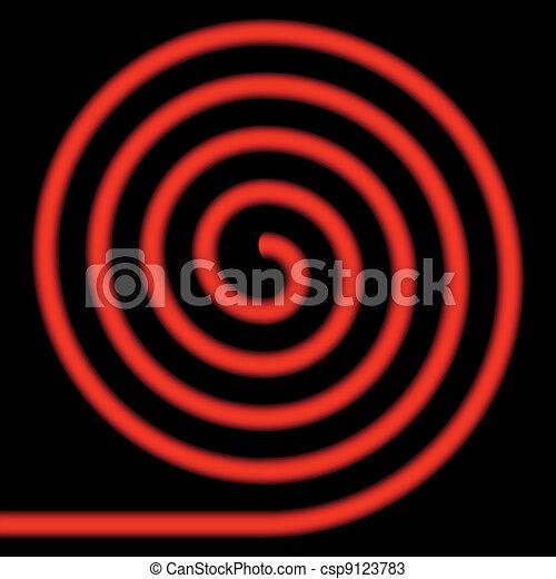 Red spiral. - csp9123783