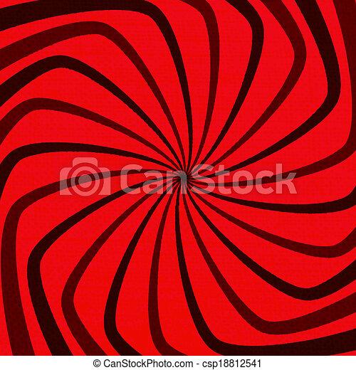 Red Spiral Grunge - csp18812541