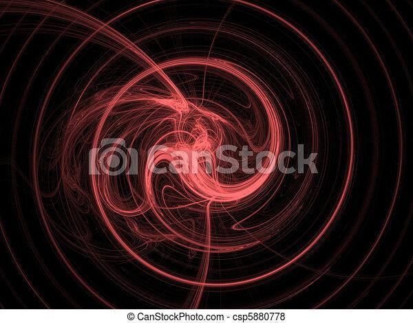 Red spiral - csp5880778