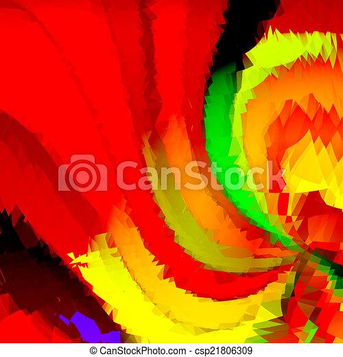 Red spiral - csp21806309
