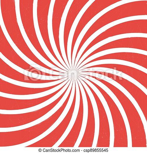 red spiral vintage - csp89855545