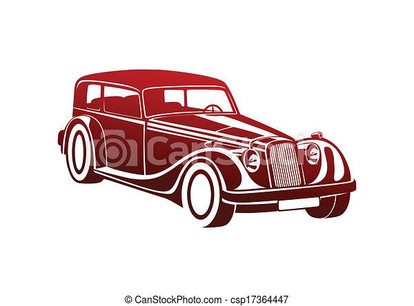 Red sport classic automobile - csp17364447
