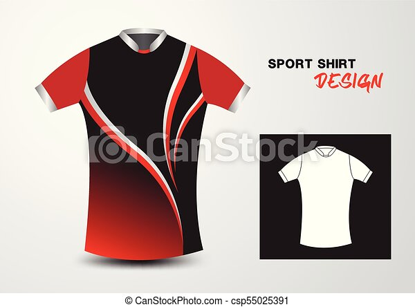 T Shirt Design Line Art : Red sport shirt design vector illustration eps vectors