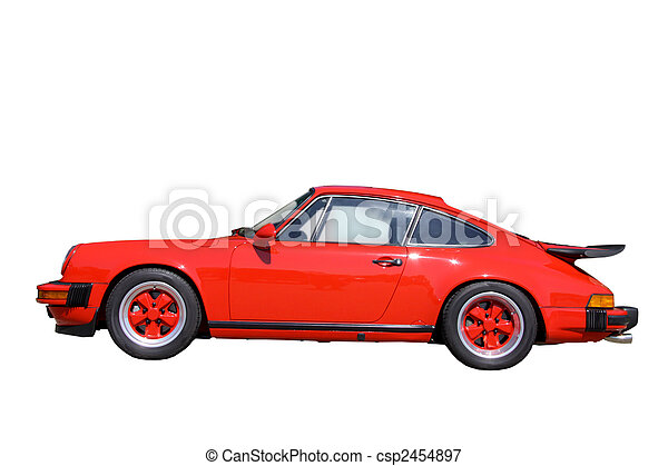 Red Sports Car - csp2454897