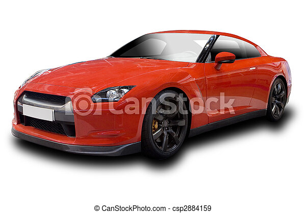 Red Sports Car - csp2884159