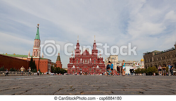 Red square in Moscow, Russian federation - csp6884180