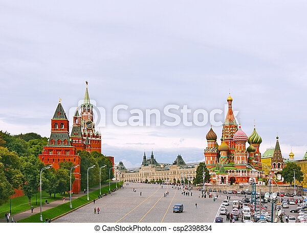 Red Square in Moscow, Russian Federation. - csp2398834
