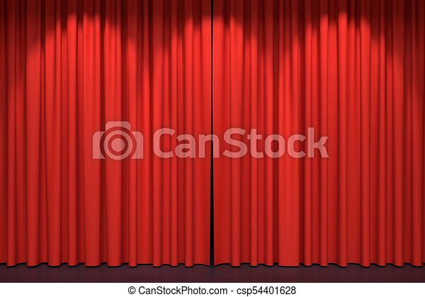 Red Stage Curtains 3d Illustration