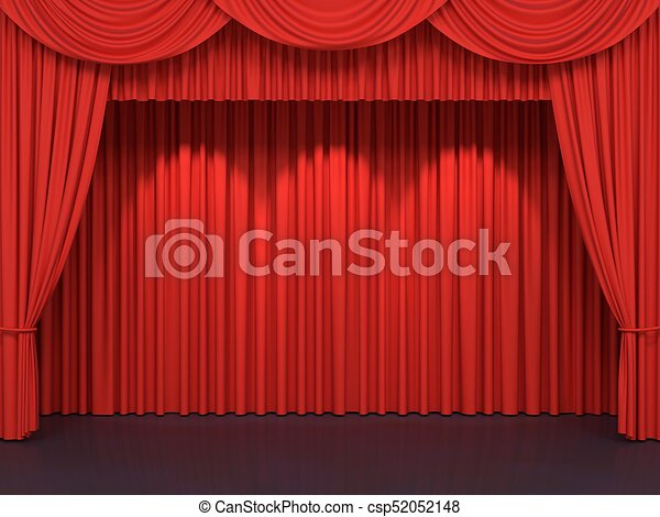 Red Stage Curtains Luxury Velvet Drapes Silk Drapery