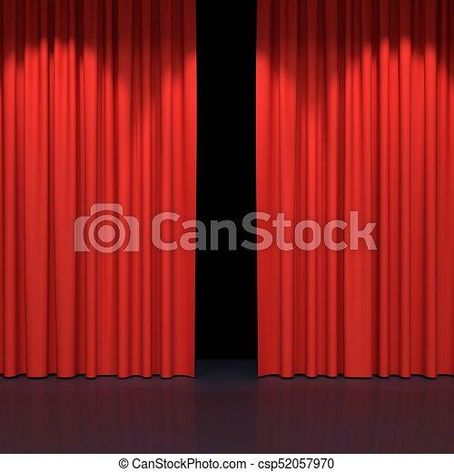 Red Stage Curtains Luxury Velvet Drapes Silk Drapery Stock