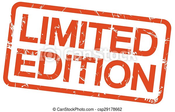 red stamp LIMITED EDITION - csp29178662