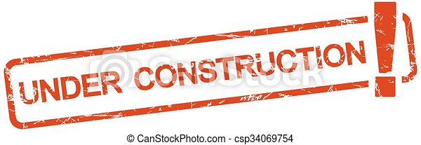 red stamp with text under construction - csp34069754