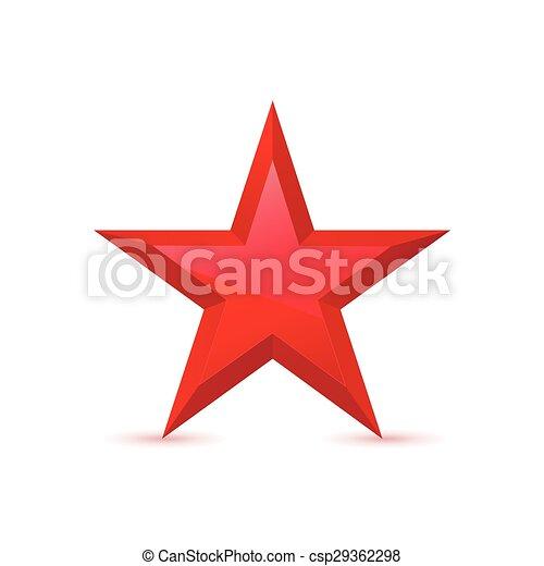 Red Star Award Symbol Pentagonal Sign Vector Illustration Eps
