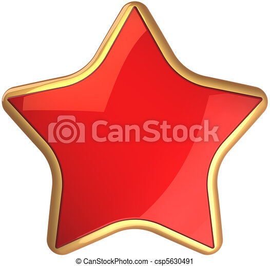 Red Star From Russia Red Star Shape Rating Symbol Scarlet With