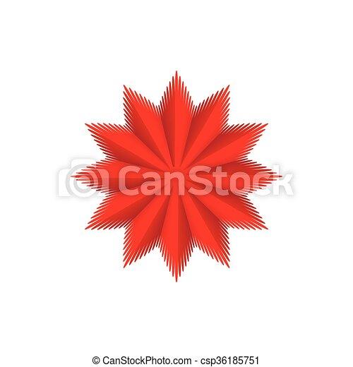 Red star icon, cartoon style - csp36185751