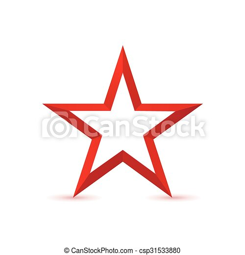 Red Star Icon Red Star Logo Icon Isolated On White Background