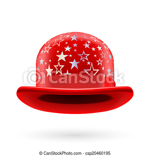 Red starred bowler hat - csp20460195
